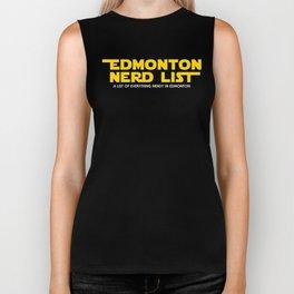 Edmonton Nerd List - From a Galaxy Far Far Away (solid on dark) Biker Tank