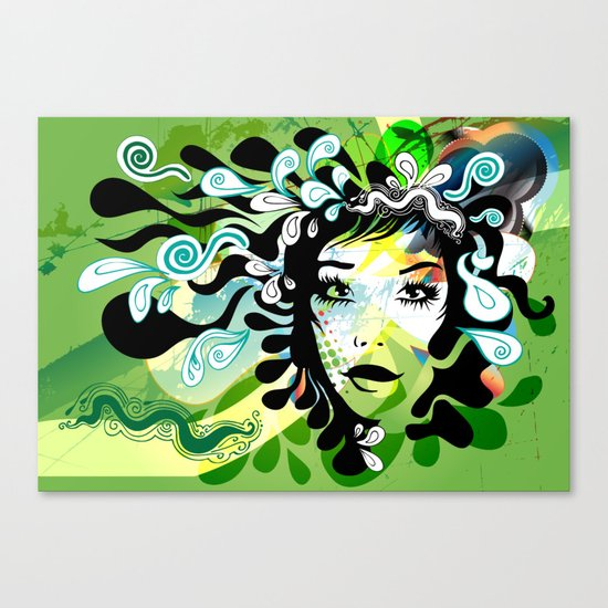 spring girl Canvas Print