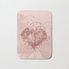 Abstract grunge heart Bath Mat