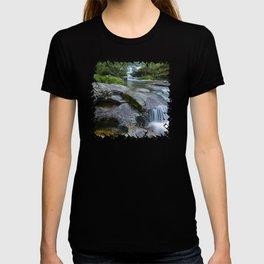 Waterfalls in wild forest T-shirt