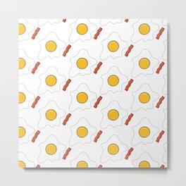 Bacon and eggs Metal Print