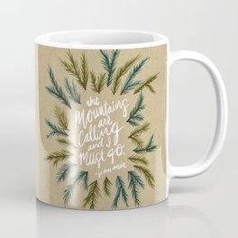 Mountains Calling – Kraft Coffee Mug