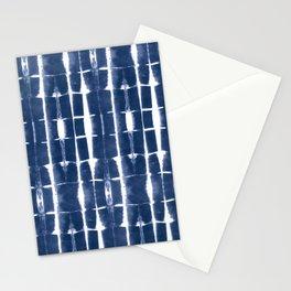 Shibori Stripes 3 Indigo Blue Stationery Cards