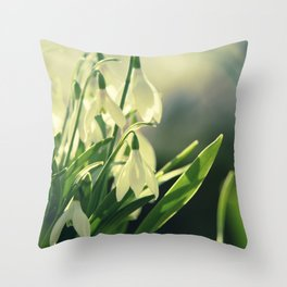 Snowdrops impression from the garden Throw Pillow