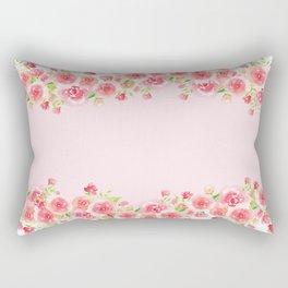 Garlands from Pink Roses Rectangular Pillow
