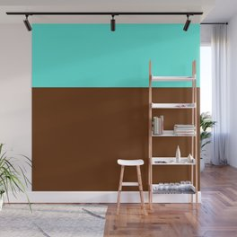 light teal and brown Wall Mural