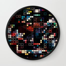 Colorful Geometric Graphic Wall Clock