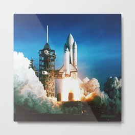 Space Shuttle Launch Metal Print