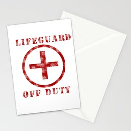 Lifeguard Off Duty Stationery Cards