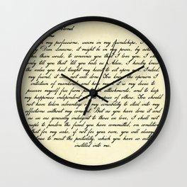 Alexander Hamilton Letter to John Laurens Wall Clock