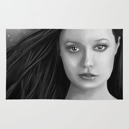 Summer Glau - The girl with the beautiful face B&W Rug
