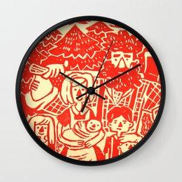 Lumberjack Family Wall Clock