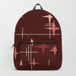 Mid Century Modern Stars (Garnet Red) Backpack