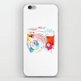 Camera Watercolor iPhone Skin