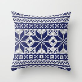 Winter knitted pattern 5 Throw Pillow