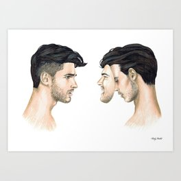 """Sometimes it's easier to pretend, than to explain the unexplainable."" Art Print"