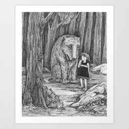 Would you be my friend? Art Print