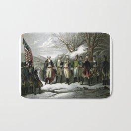 Washington and His Generals Bath Mat