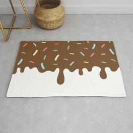 Donut Glaze, Frosting, Sprinkles - Brown Pink Blue Rug