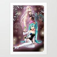Miku and Ia - Melody  Art Print