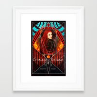 book cover Framed Art Prints featuring Chimera Dreams Book Cover by Timothi Ellim