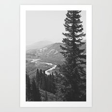 River through the Mountains Art Print