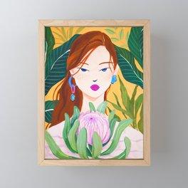 Botanical Lady Framed Mini Art Print