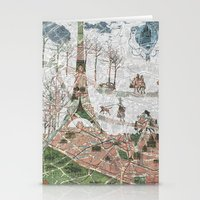 paris map Stationery Cards featuring Paris Map by Paula Belle Flores