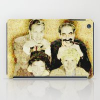 marx iPad Cases featuring MARX BROTHERS - 004 by Lazy Bones Studios