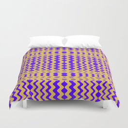 Bright Purple Yellow Wavy Lines Duvet Cover