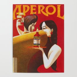 Aperol Alcohol Aperitif Spritz Vintage Advertising Poster Poster
