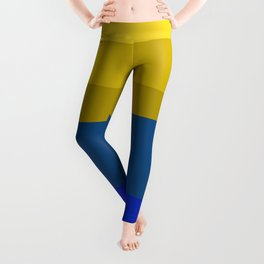 Blues and golds Leggings