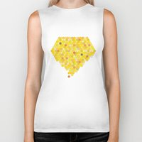 honeycomb Biker Tanks featuring Honeycomb by Nikky