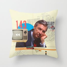 Mr. Rogers 143 Throw Pillow