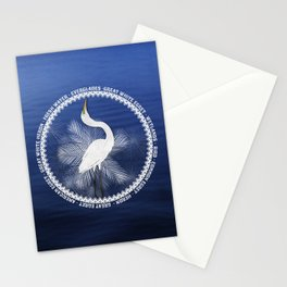 Great Egret Wreath Stationery Cards