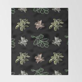 Quercus (black) Throw Blanket
