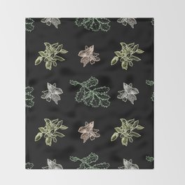 Quercus (black) Throw Blanket