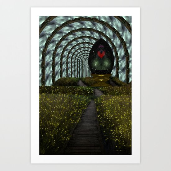 Keep your heart in a happy place Art Print