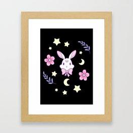 Sakura Bunny Framed Art Print