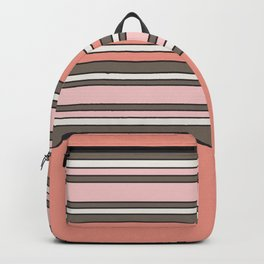 The Pink Stripes Backpack