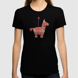 Mexican Donkey Piñata – Pink & Rose Gold Palette T-shirt