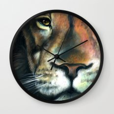 Lion in the Clouds Wall Clock