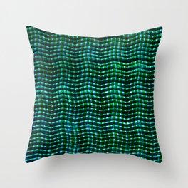 Screened Green Throw Pillow