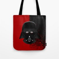 darth vader Tote Bags featuring Darth Vader by Oblivion Creative