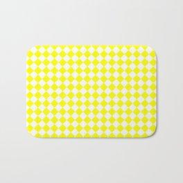Small Diamonds - White and Yellow Bath Mat