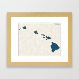 Hawaii Parks - v2 Framed Art Print