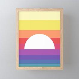 saturday sunset Framed Mini Art Print