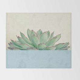 Succulent Dip III Throw Blanket