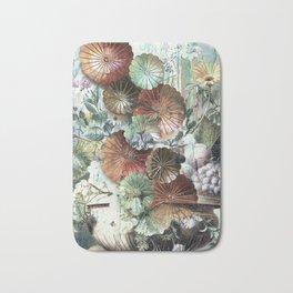 Abstract textured pastel floral still life Bath Mat