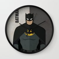 super hero Wall Clocks featuring Hero by Loud & Quiet